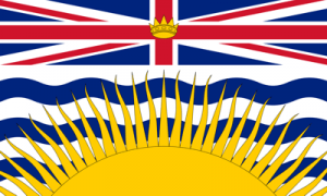 British Columbia BC Canada Flag