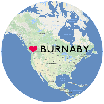 Burnaby BC Canada Location Map