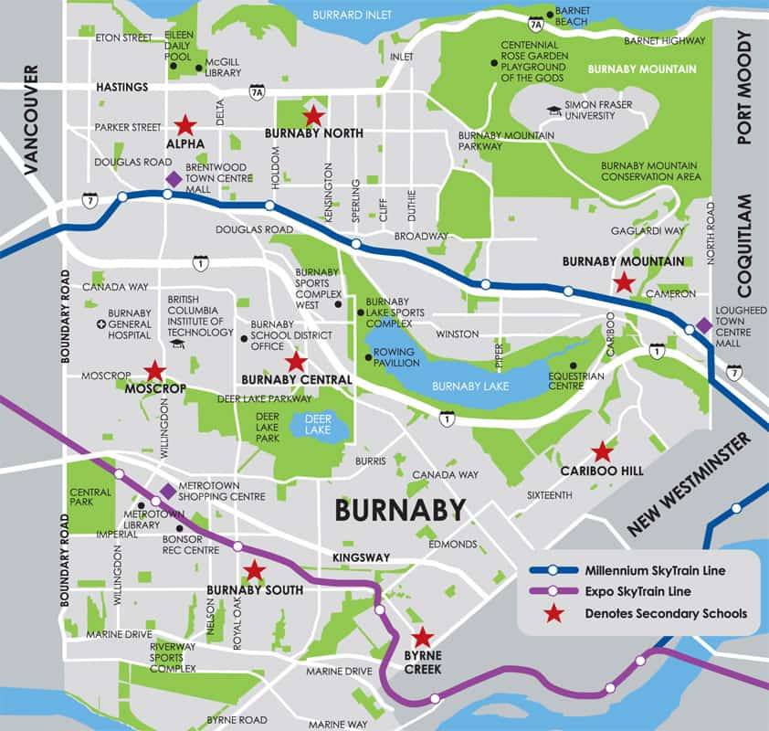City of Burnaby Map
