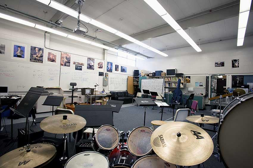 Alpha High School Band Room