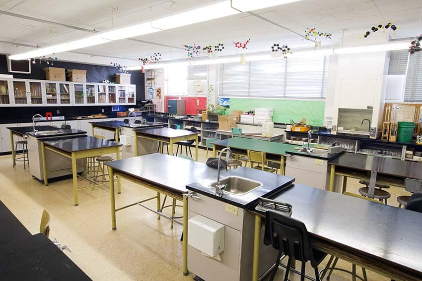 Alpha High School Science Classroom