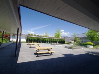 Alpha High School Courtyard