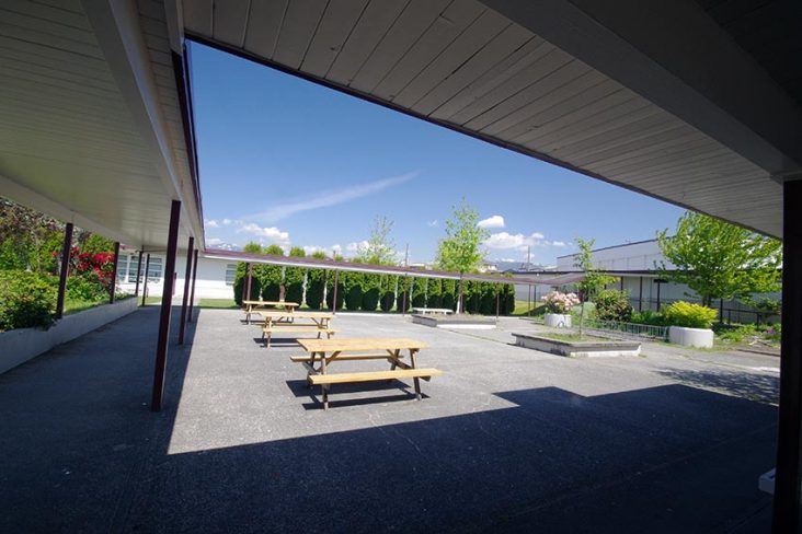 Alpha High School Courtyard