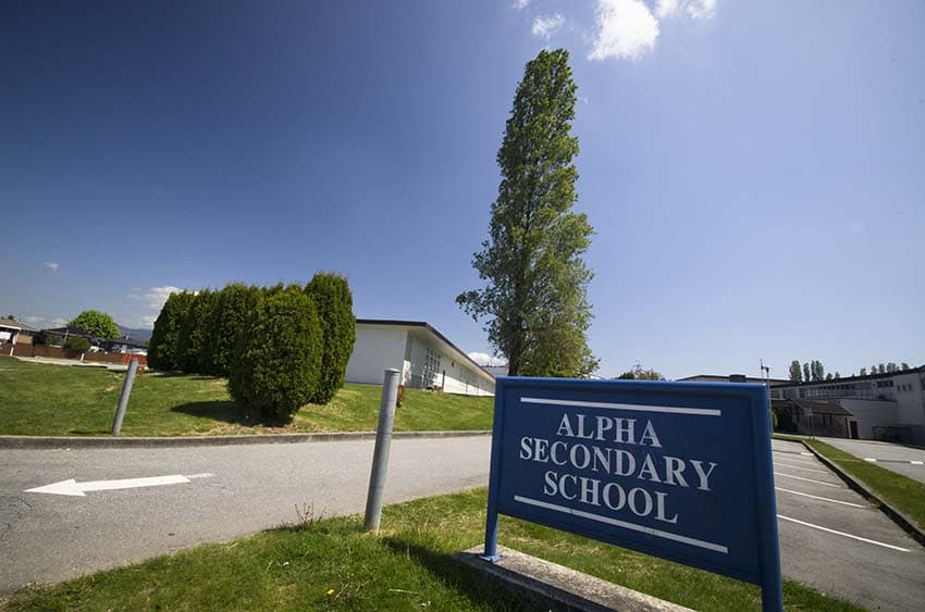 Alpha High School Sign