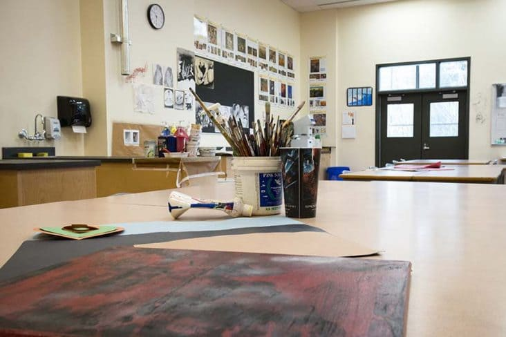 Burnaby Central Secondary Art Class