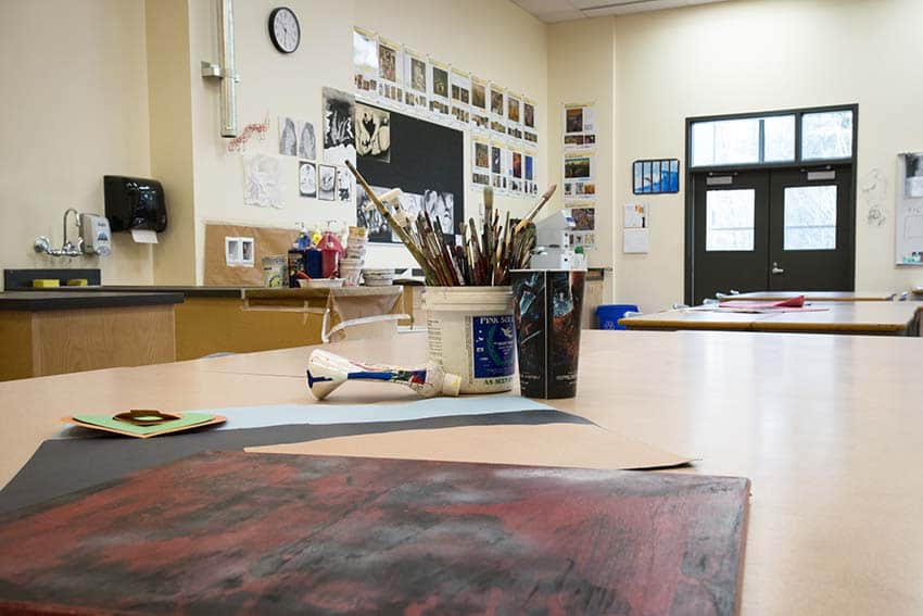 Burnaby North Secondary Art Class