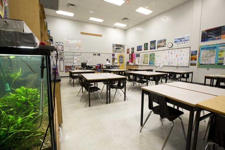 Burnaby Mountain Secondary Classroom