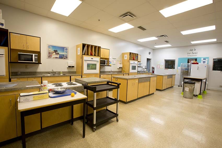 Burnaby Mountain Secondary Foods Classroom
