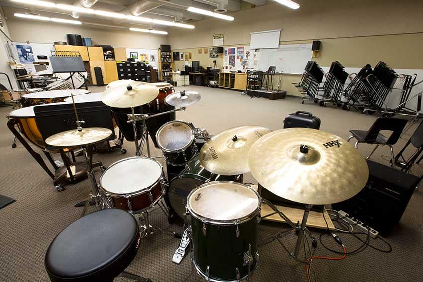 Burnaby Mountain Secondary Music Room