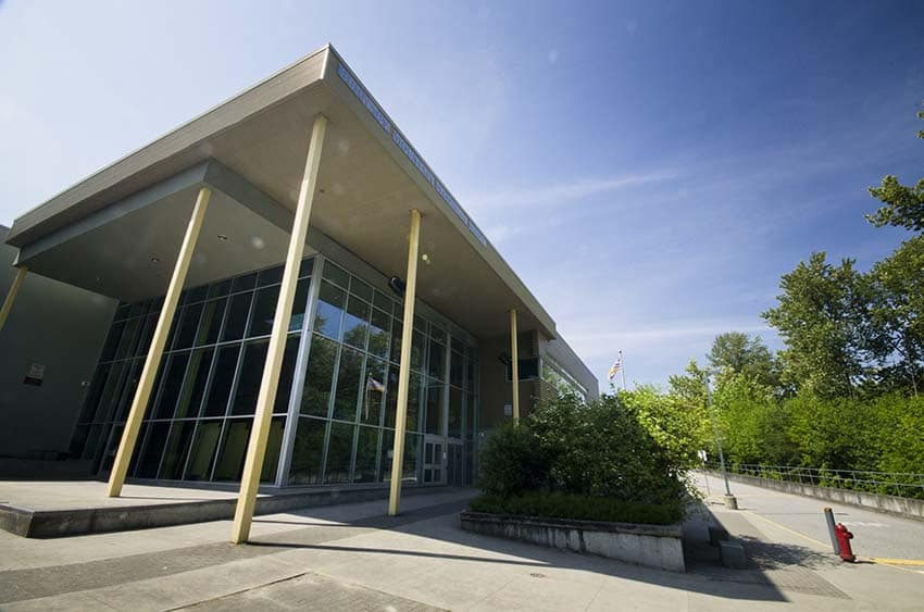 Burnaby Mountain Secondary School Exterior