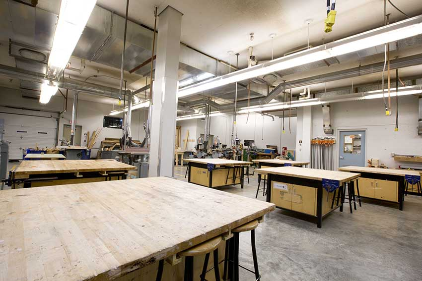Burnaby Mountain Secondary Woodshop