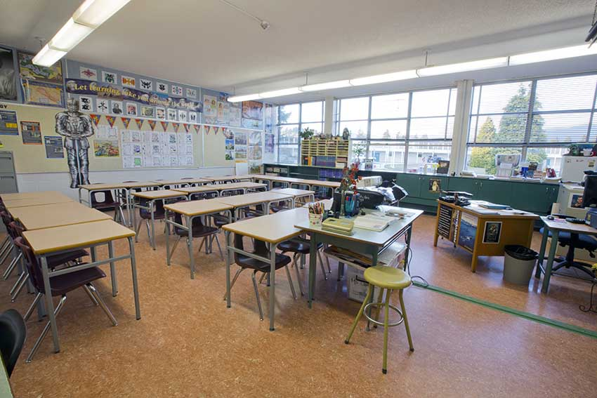 Burnaby North Secondary Classroom