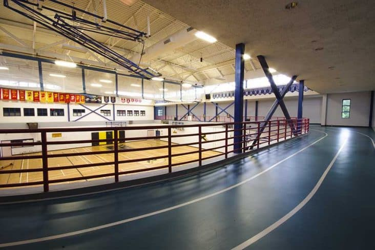 Burnaby South Secondary Gym Running Track