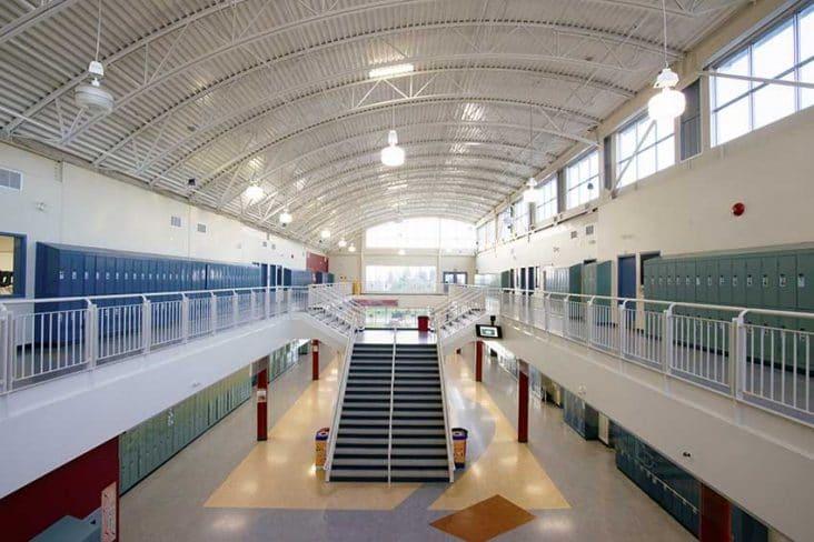 Byrne Creek Secondary Hallway