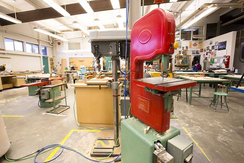 Cariboo Hill Secondary Woodshop