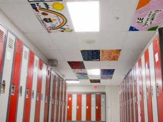 Moscrop Secondary hallway