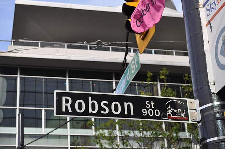 Robson Street Vancouver Canada