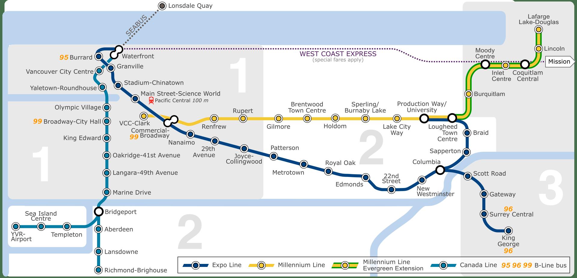 Burnaby Skytrain Map